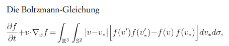 Die Boltzmann-Formel, die das Verhalten eines verdünnten idealen Gases beschreibt.