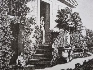 Goethes Hausgarten mit Christiane Vulpius und August von Carl Lieber nach Goethes Entwurf Bildquelle [B]