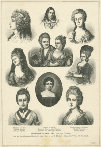 Frauengestalten aus Goethes Leben (nach alten Originalen) Bildquelle: [B]