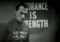 Unwissenheit ist Stärke Screenshot aus der Verfilmung des Romans aus dem Jahr 1954 (Bild ist mit youtube verlinkt)