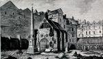 Stich des Friedhofs um 1785 Bildquelle [B]