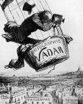 Nadar im Ballon, nach: Honoré Daumier, 1869 Bildquelle [B]