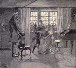 Die 'Schlussszene', in der der Earl die bis dato ignorierte Mutter besucht und sich entschuldigt Beispiel für die Illustrationen im Buch Bildquelle: [B]